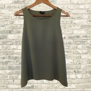 LIMITED Army Green Flowy Flare Sleeveless Tank Top